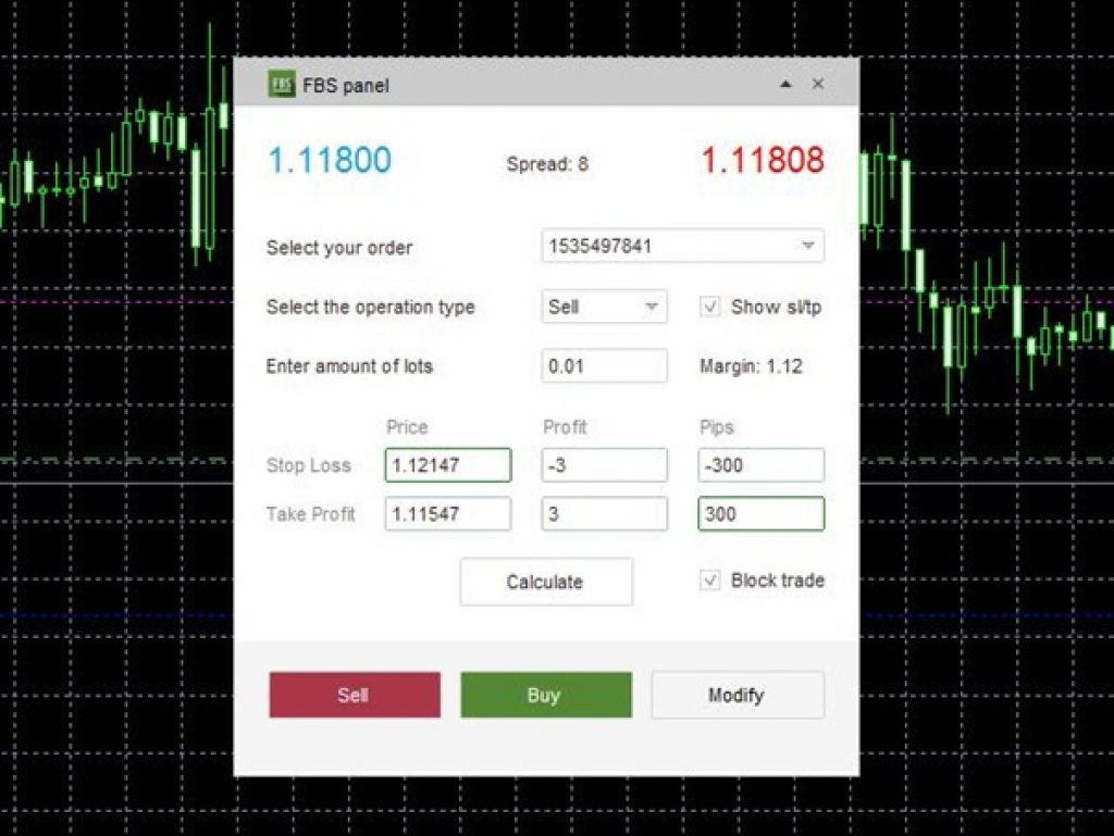 MetaTrader 4 - FBS Broker