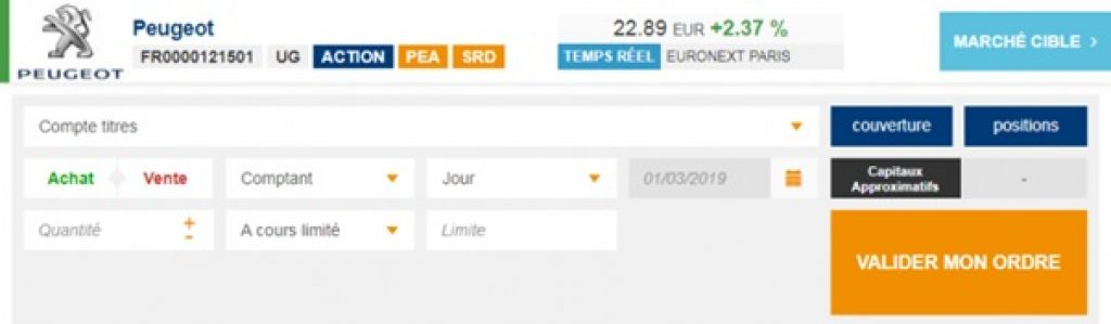 Plateforme de Bourse Direct