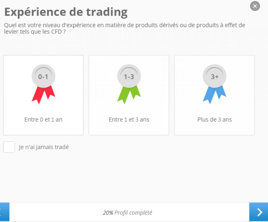 eToro - experience de trading