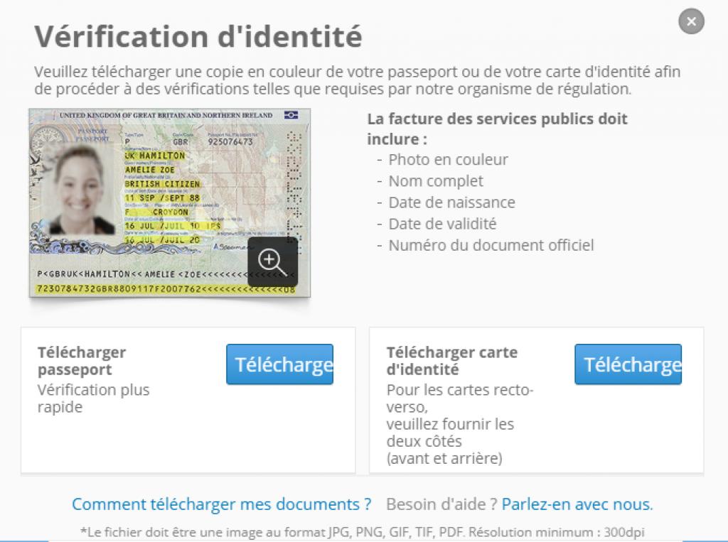 eToro - verification identité