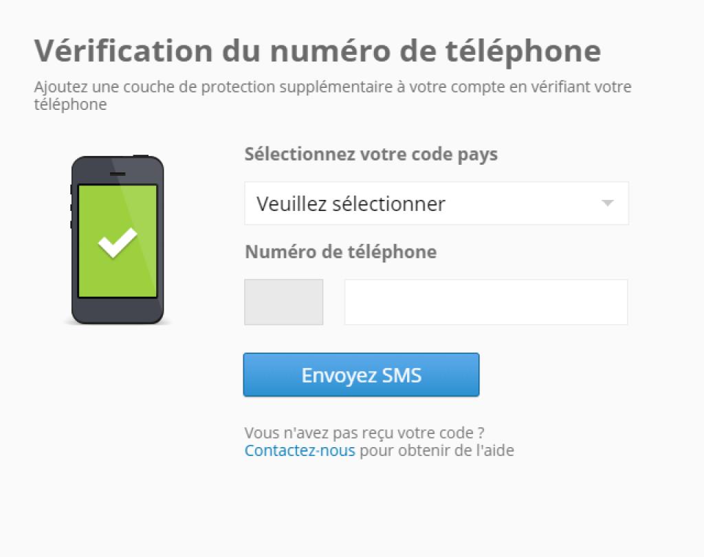 eToro - verifier numéro de téléphone