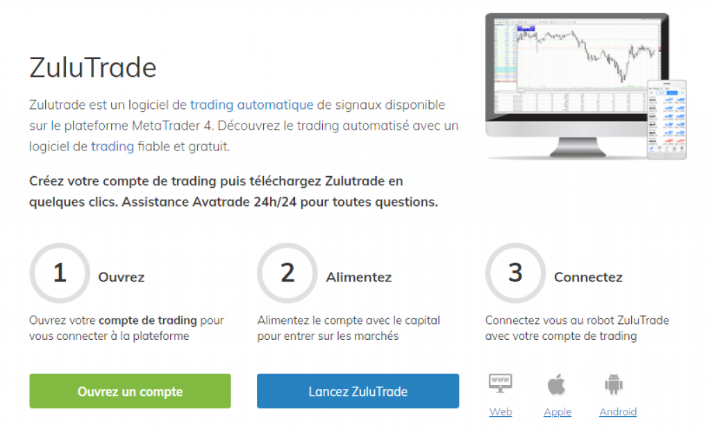 AvaTrade - ZuluTrade - Etape - Copy Trading