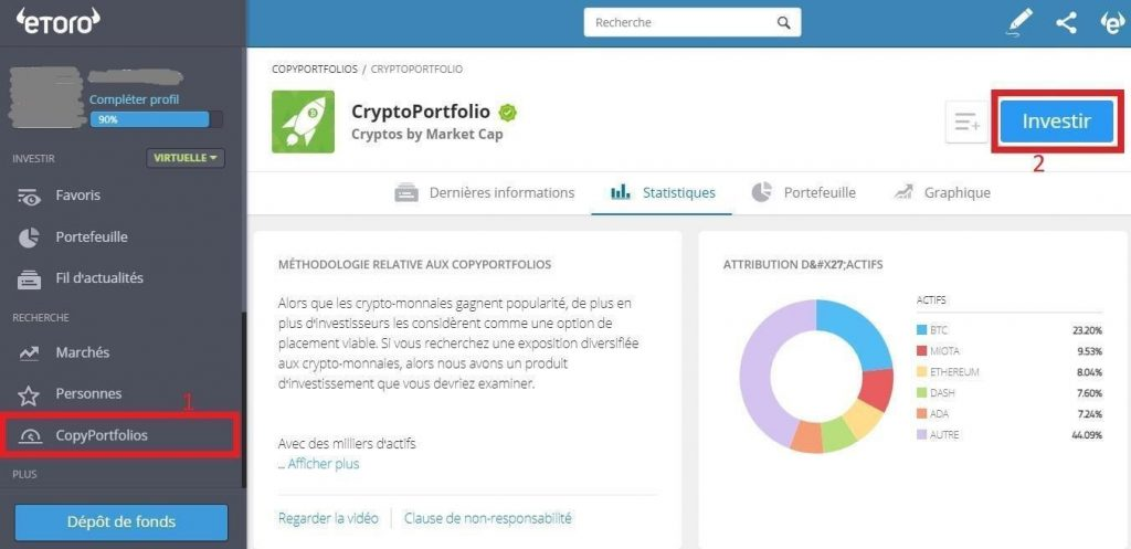 eToro - CopyPortfolios Copy Trading