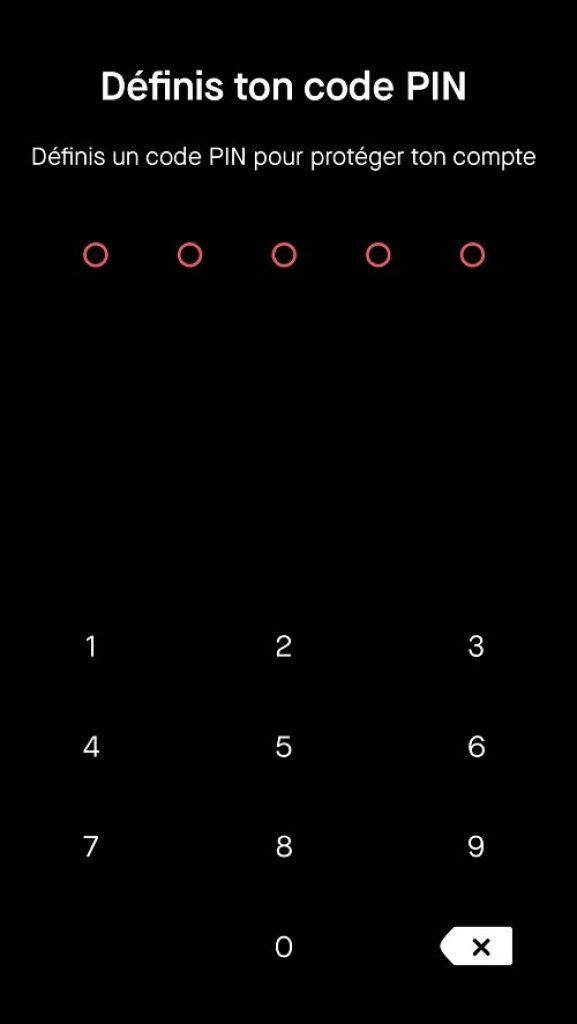 BUX - Code PIN