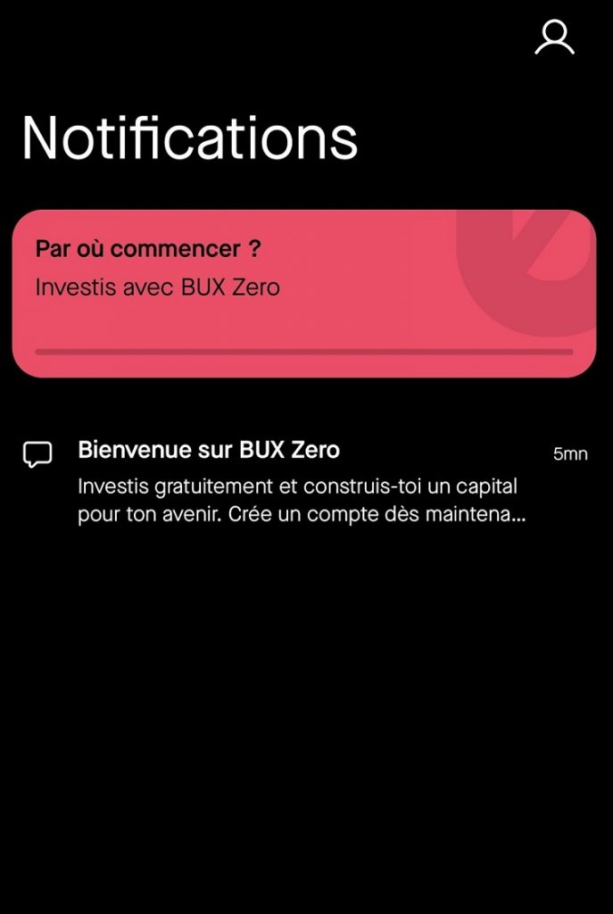 BUX Zero - Notification