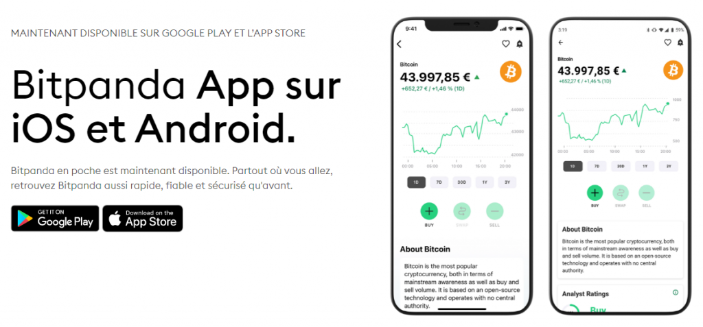 BitPanda - Trading mobile et web