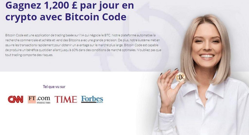 Bitcoin Code - Promesses irréalistes