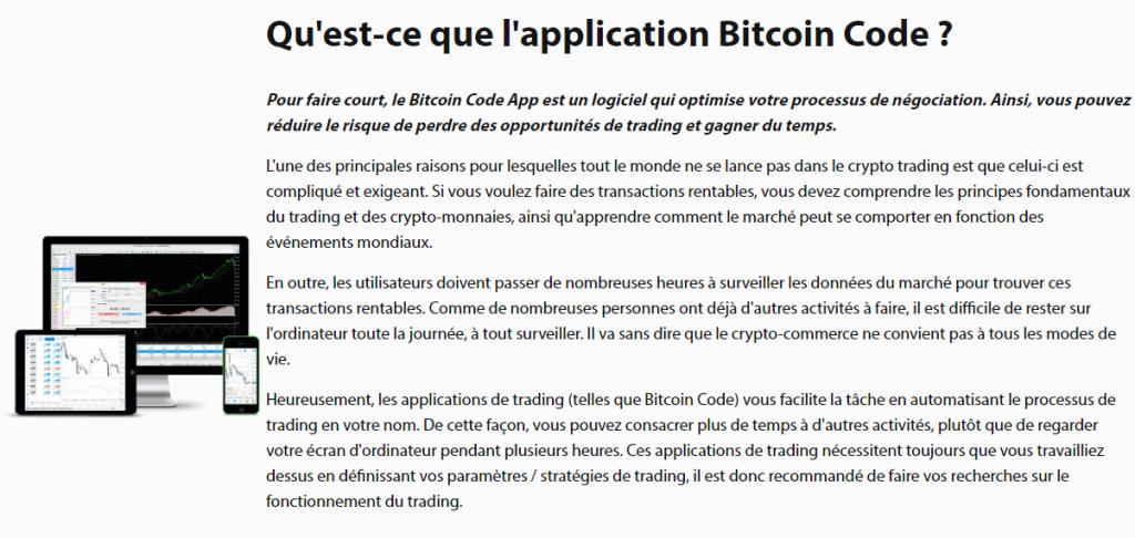 Bitcoin Code - Qu'est-ce que l'application