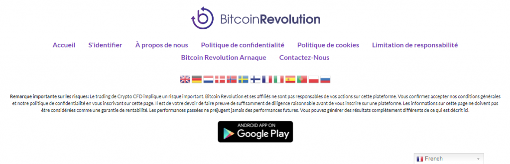 Bitcoin Revolution - Bas de Page