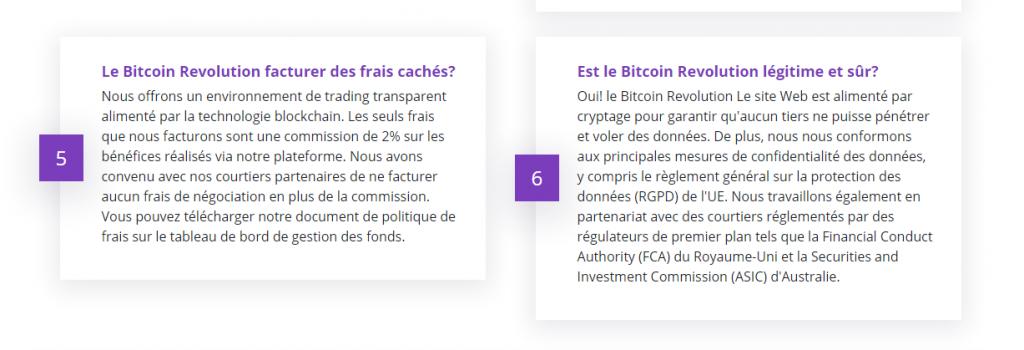 Bitcoin Revolution - Coûts et frais