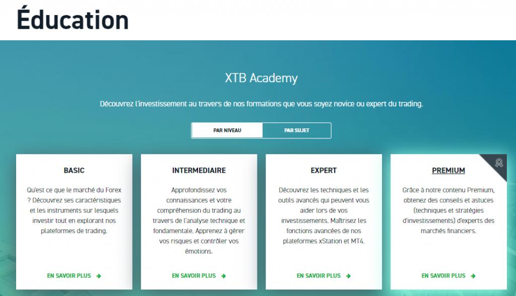 XTB - Formation