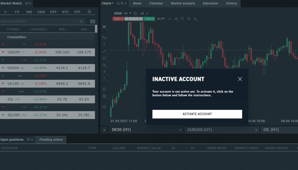 XTB - Inactive Account
